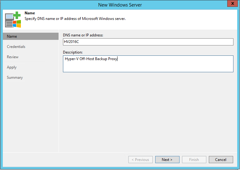 Hyper-V Off-Host Name