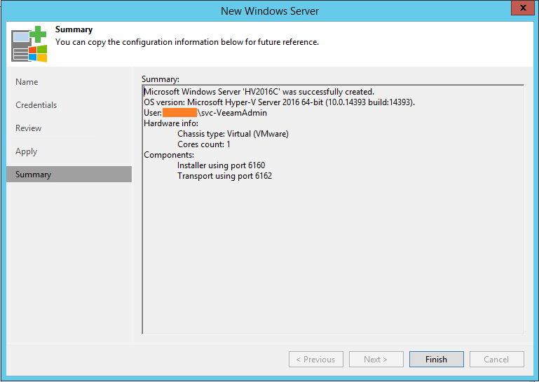 Hyper-V Off-Host summary