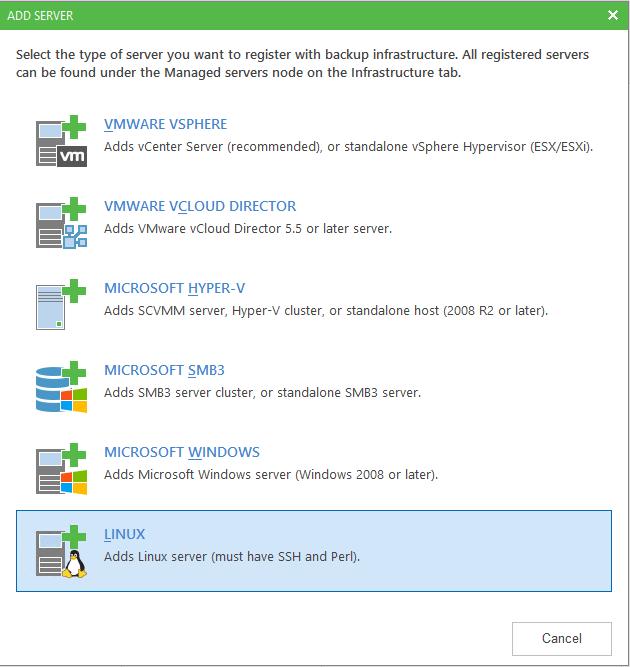 Linux Backup Server install
