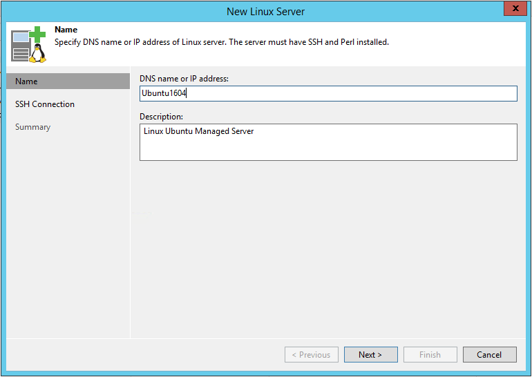Linux Backup Server name