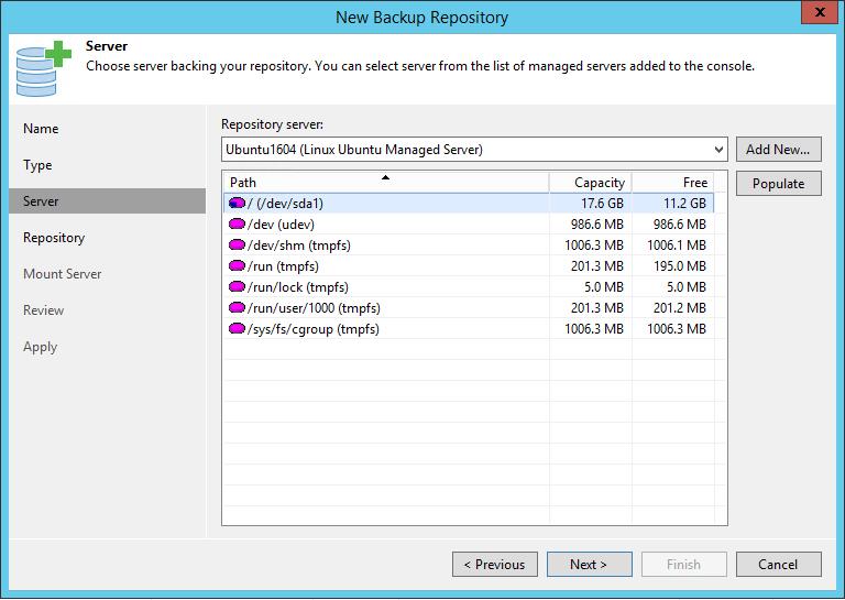 Linux Backup Server Storage