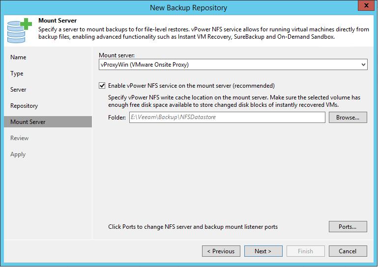 Linux Backup Server mount server