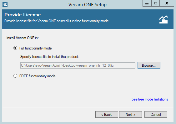 Veeam One functionality mode