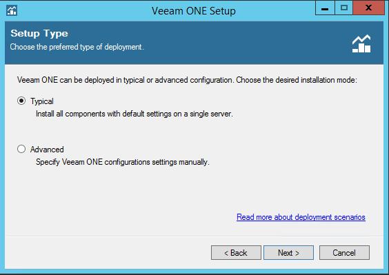 Veeam One install type