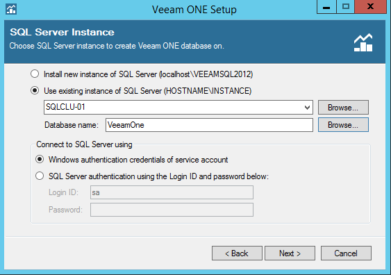 Veeam One Database
