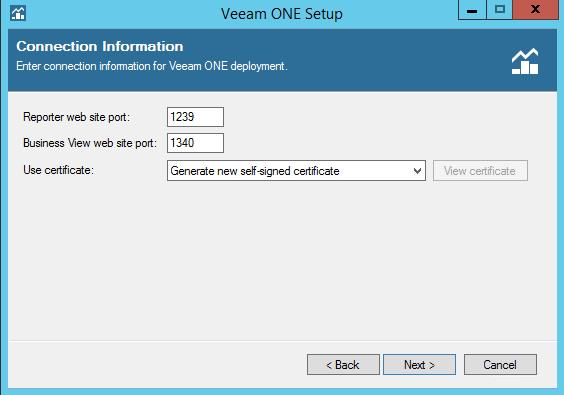 Veeam One network ports