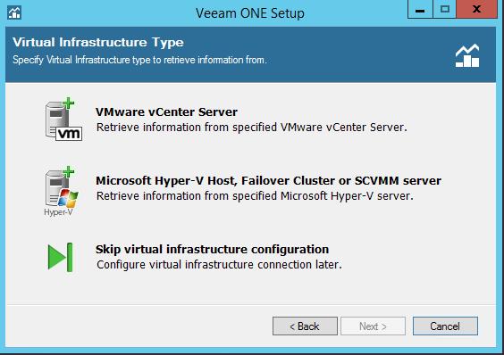 Veeam One add infrastructure