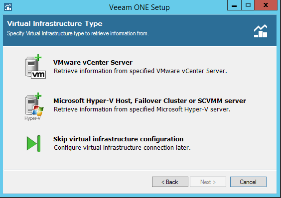 Veeam One add infrastructure