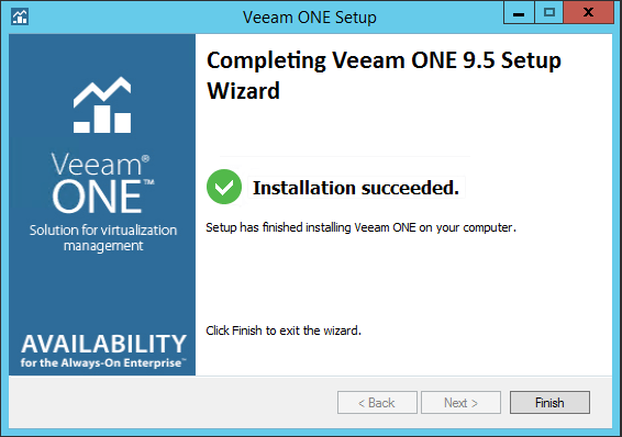 Veeam One install complete