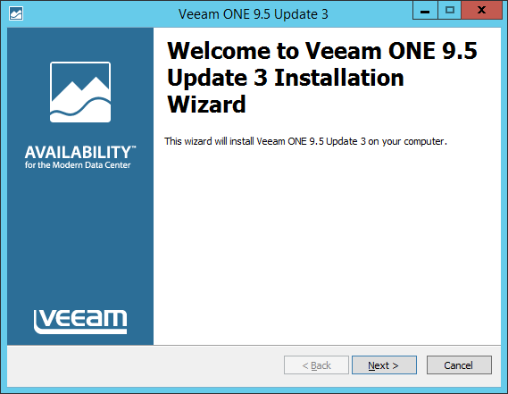 Upgrade Veeam One wizard