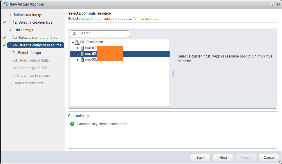 Windows Server 2016 vmware compute resource