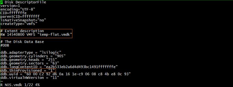 domalab.com Create VMware Disk Descriptor file 09