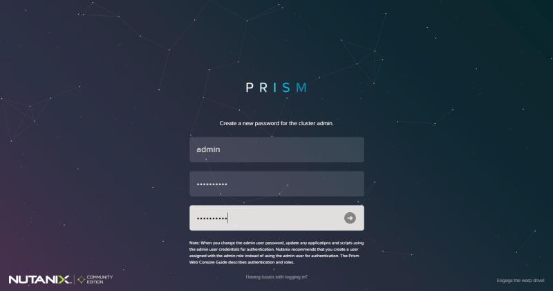 domalab.com Configure Nutanix Prism login