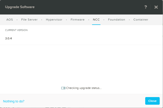 domalab.com Configure Nutanix upgrade NCC check version