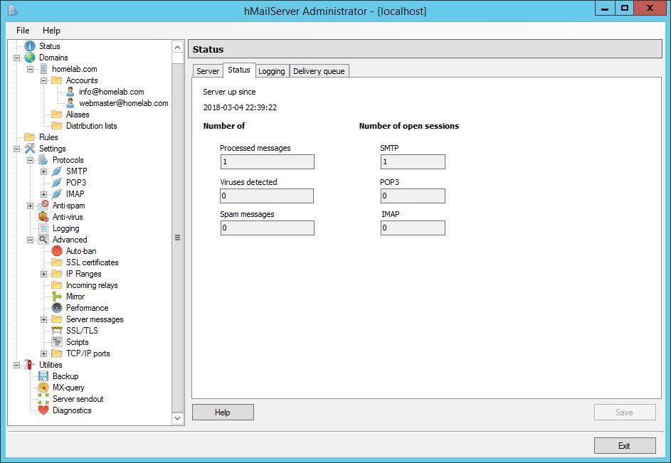 Configure hMailServer with external Gmail SMTP » domalab