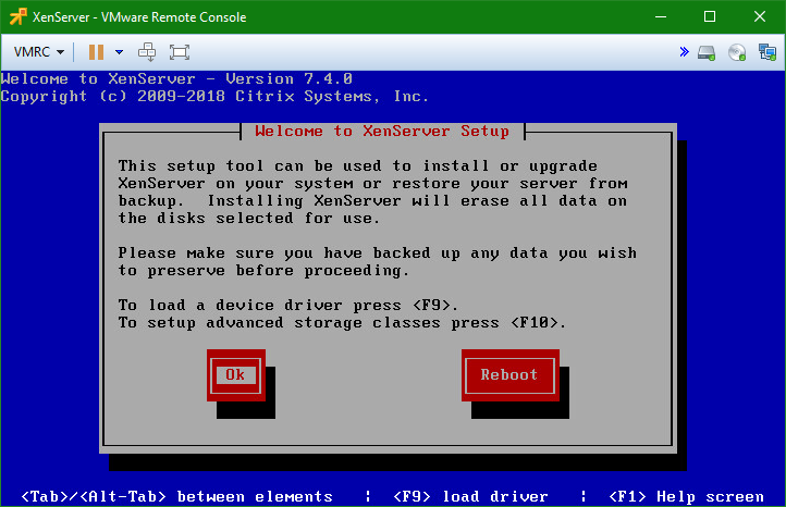 domalab.com install XenServer wizard