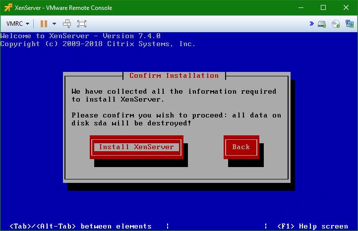domalab.com install XenServer install wizard