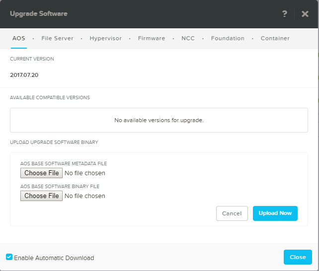domalab.com Upgrade Nutanix AOS slect files