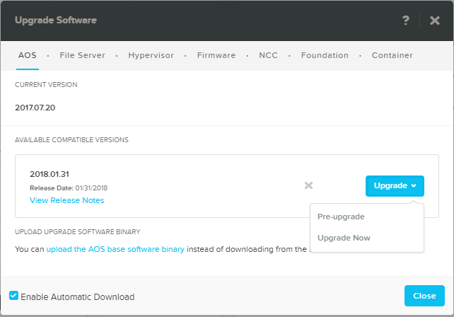domalab.com Upgrade Nutanix pre-upgrade