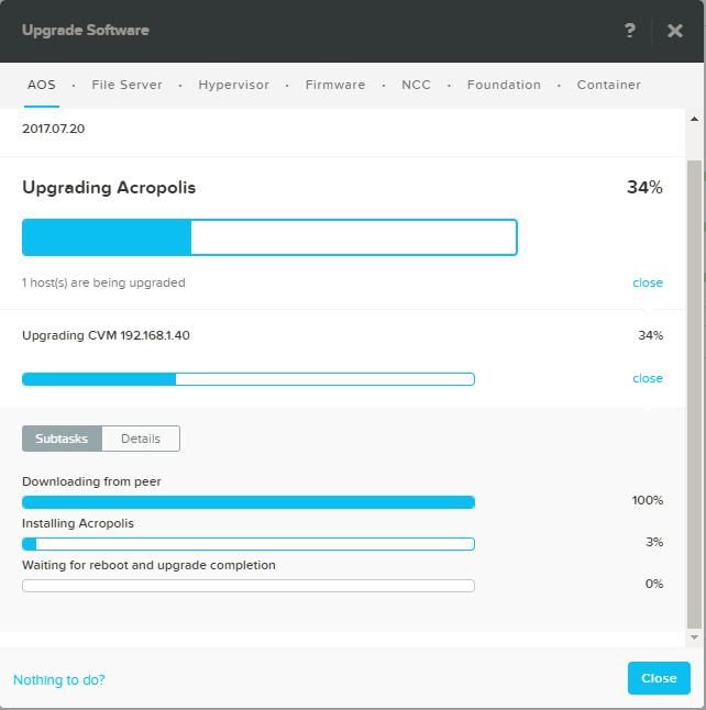 domalab.com Upgrade Nutanix status