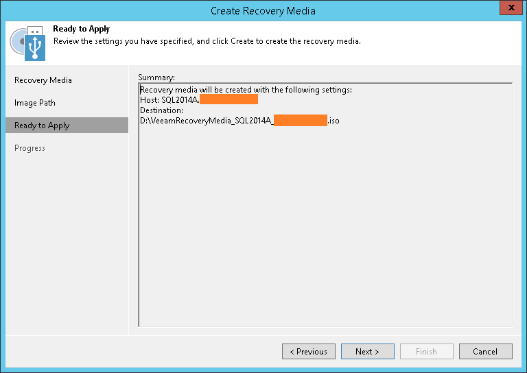 domalab.com Veeam Recovery Media apply settings