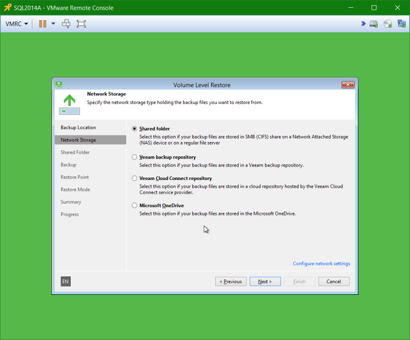 domalab.com Veeam Recovery Media Network Storage