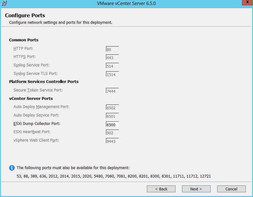 Domalab.com vCenter Upgrade configure ports
