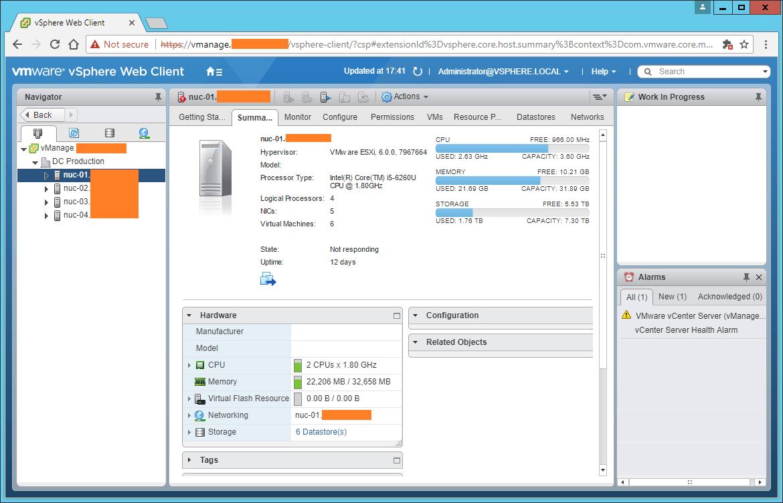 Domalab.com vCenter Upgrade web console flash