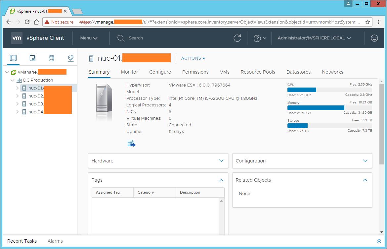 Domalab.com vCenter Upgrade web console HTML5