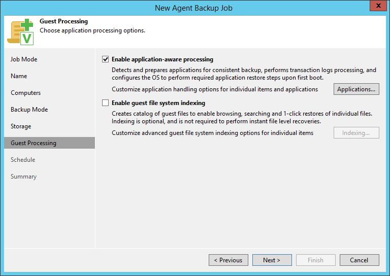 domalab.com SQL Cluster Backup Job guest processing