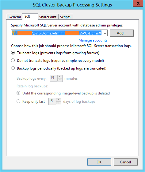 domalab.com SQL Cluster Backup Job truncate logs