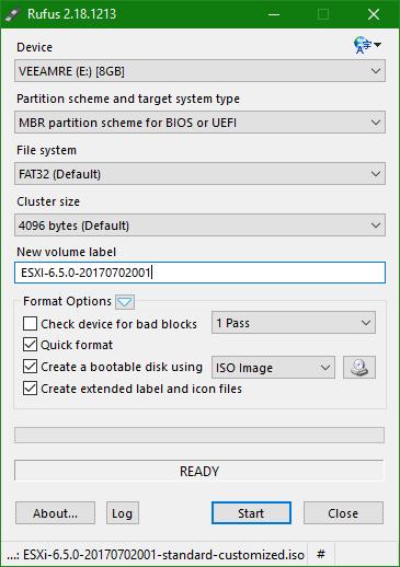 domalab.com Upgrade vSphere 6.5 rufus iso create