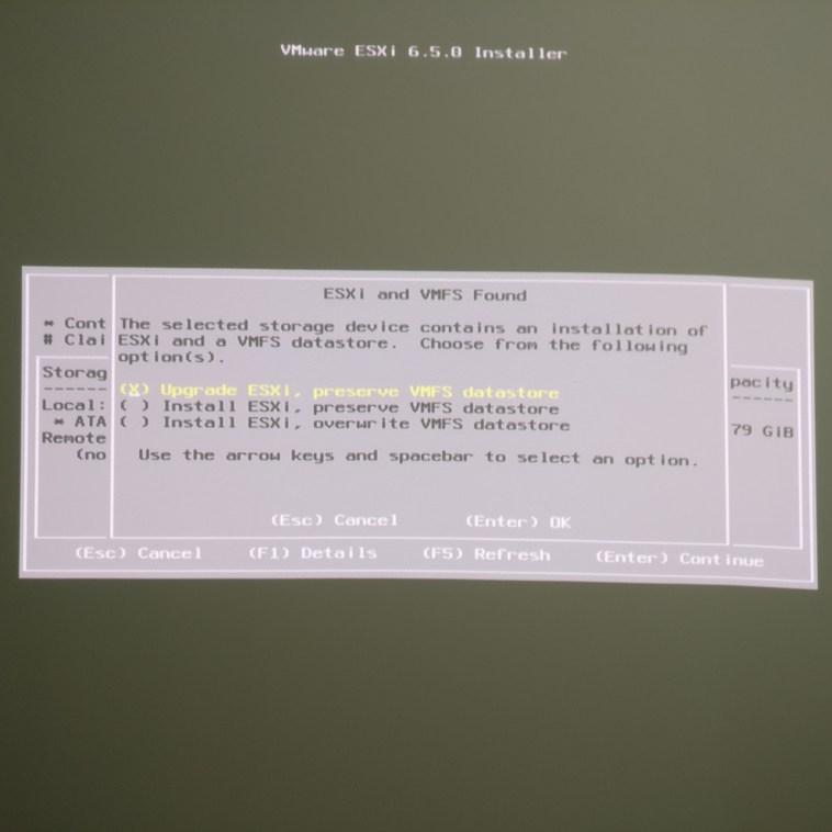 domalab.com Upgrade vSphere 6.5 preserve VMFS datastore