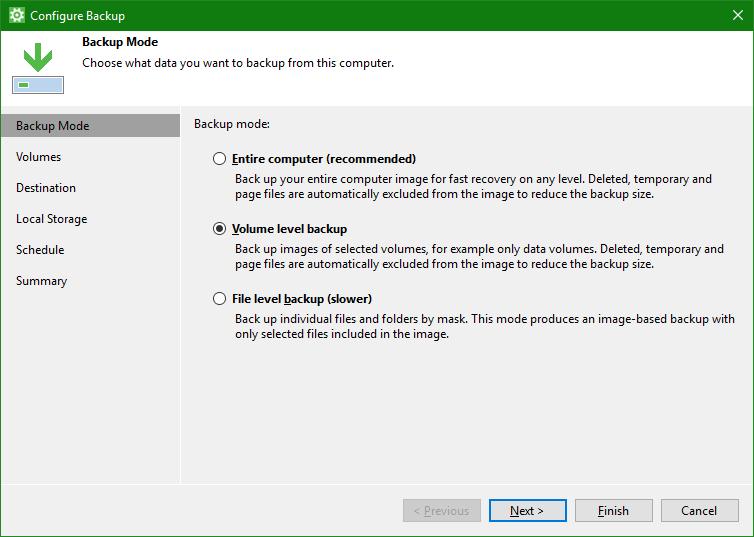 domalab.com OneDrive Windows Backup volume level backup
