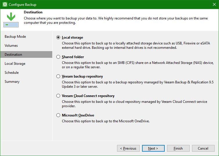 domalab.com OneDrive Windows Backup destination