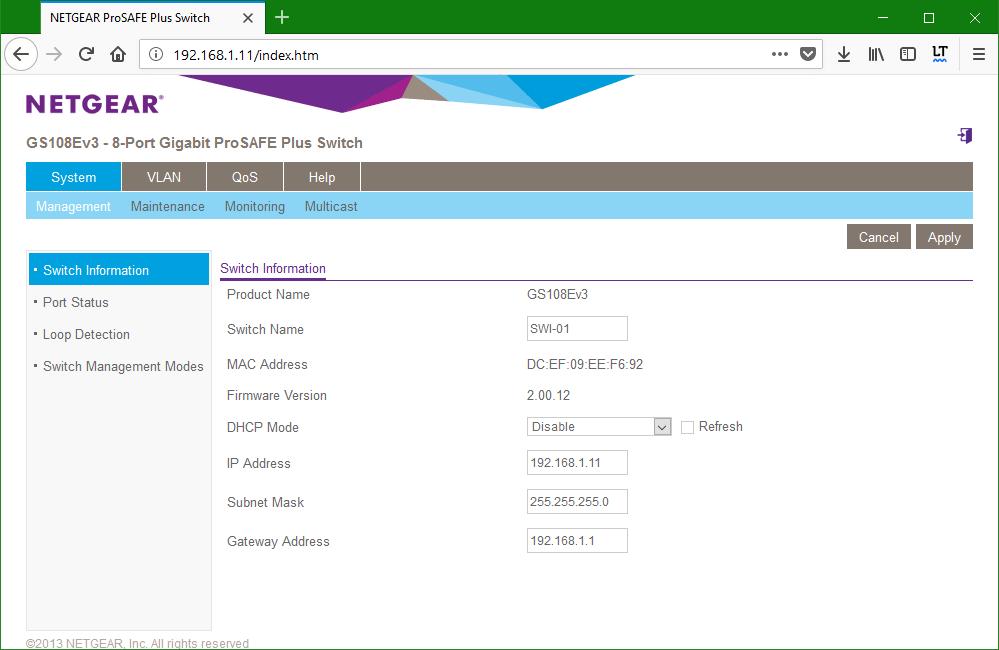 domalab.com netgear Vlan GUI