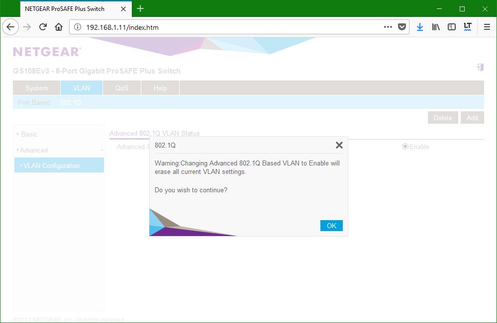 domalab.com netgear Vlan 802.1Q enable