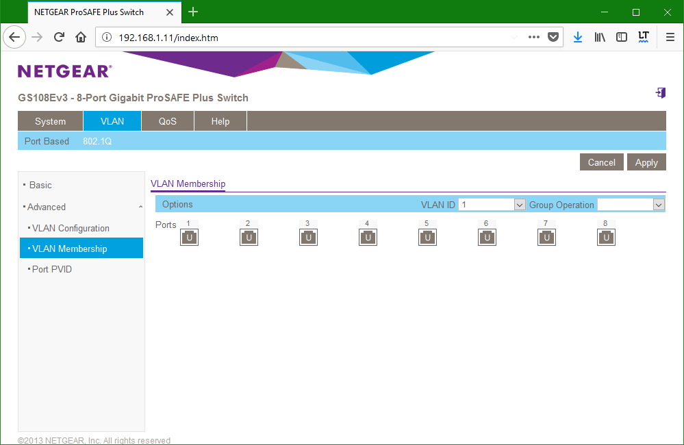 domalab.com netgear Vlan membership