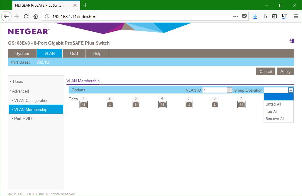 domalab.com netgear Vlan tag untag