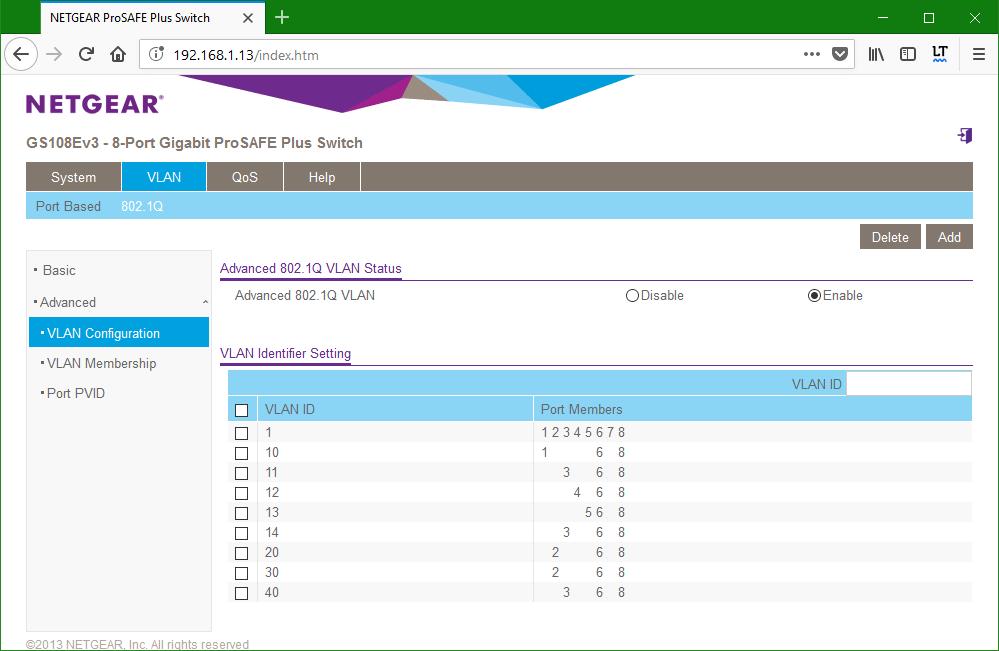 domalab.com netgear Vlan switch 3 configuration