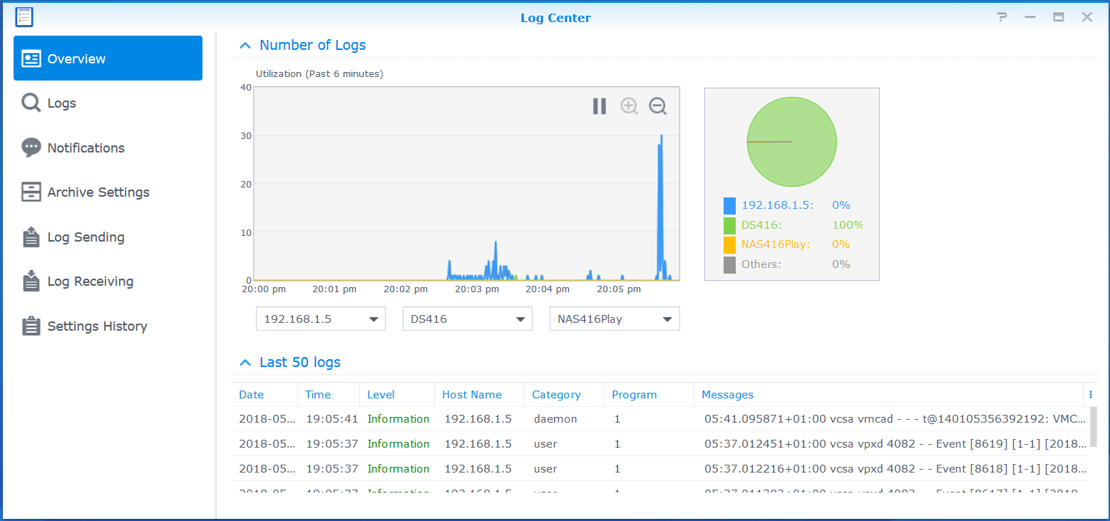 Configure Synology Syslog Server for VMware VCSA » domalab