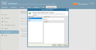 Manage vSphere Tags with Veeam One Business View