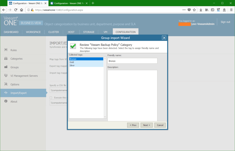 domalab.com Manage vSphere Tags Veeam Group review