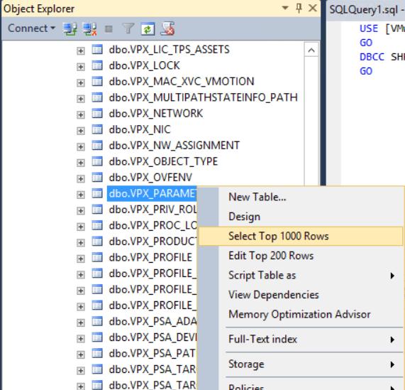 domalab.com shrink vCenter database vpx parameter edit