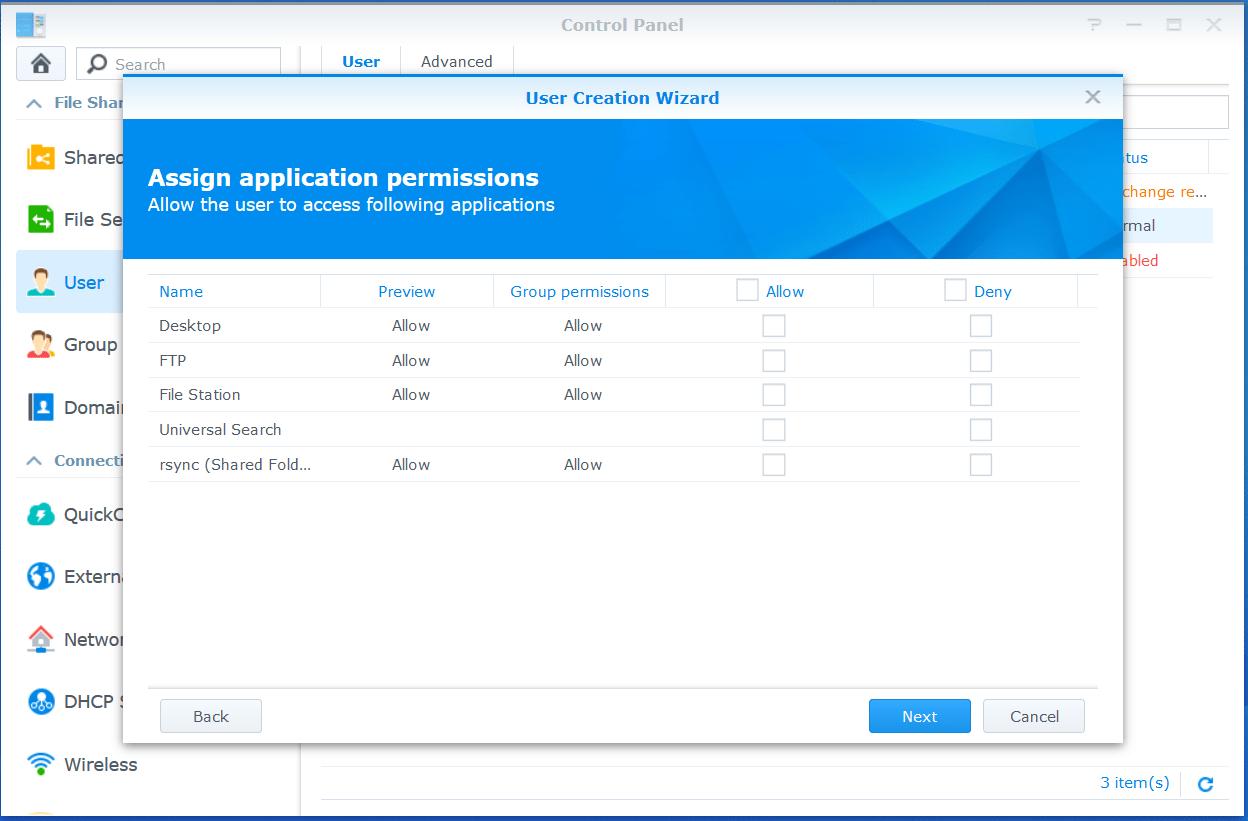domalab.com VMware VCSA Backup synology application permissions
