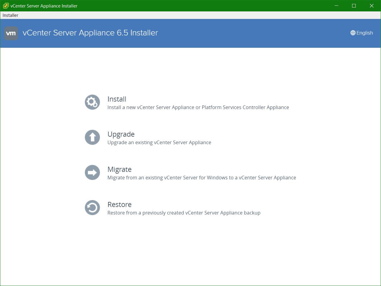 domalab.com VCSA install main wizard