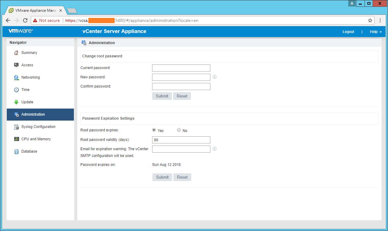 domalab.com VCSA configuration administration