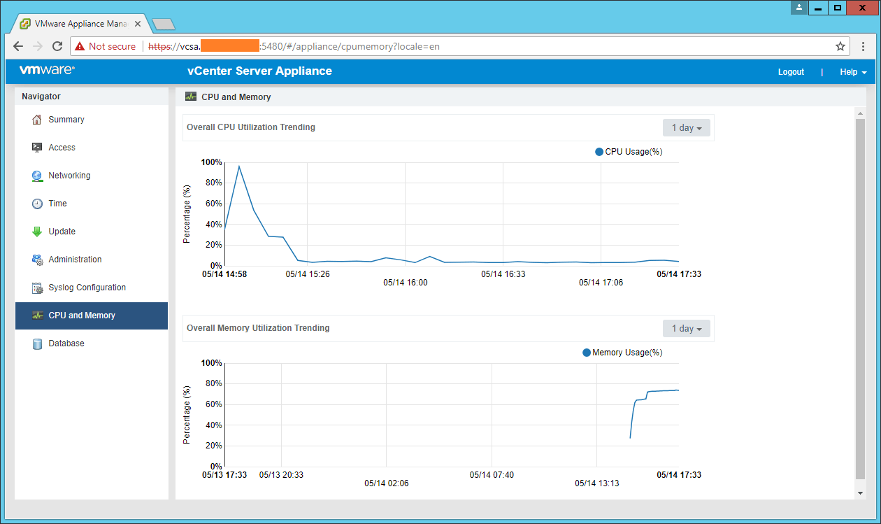domalab.com VCSA configuration CPU and Memory