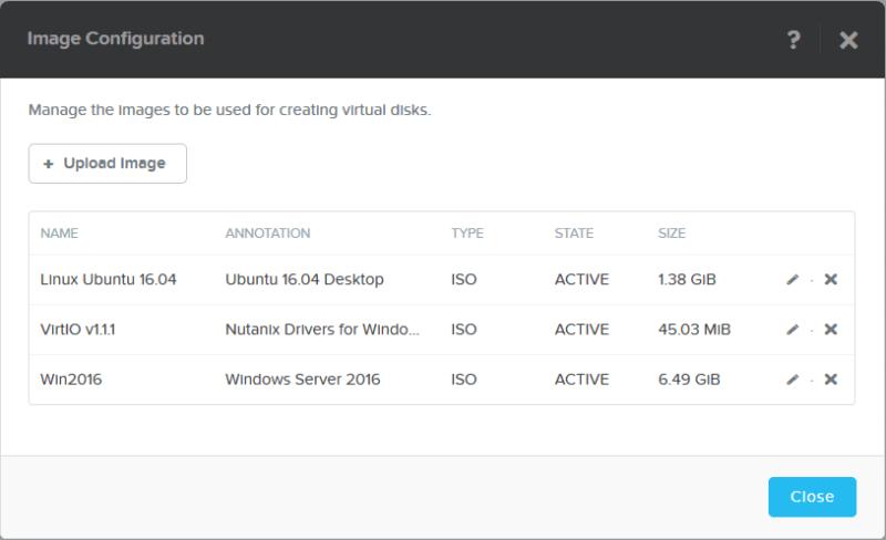 domalab.com Nutanix Image Configuration summary