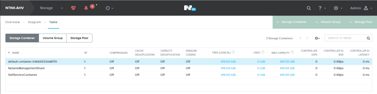domalab.com Create Nutanix Storage Container view